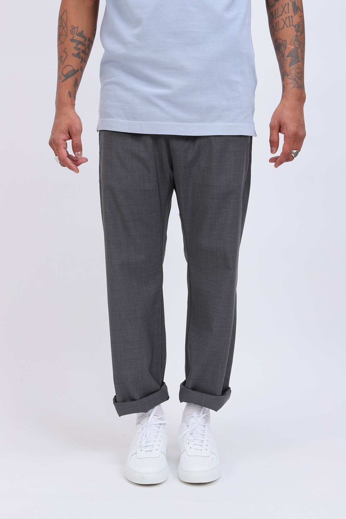 BARENA / Pantalone bativoga tela Grigio