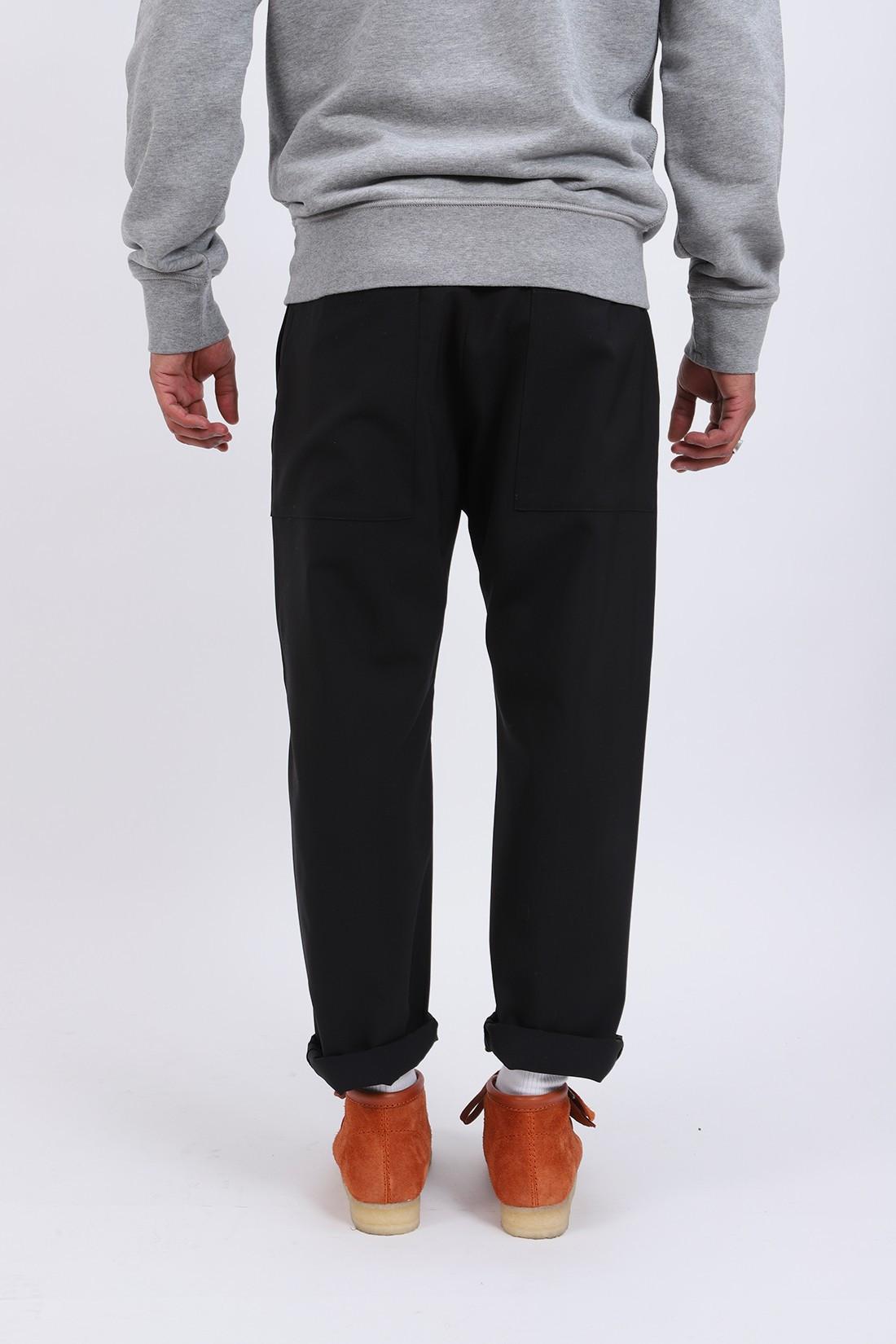 BARENA / Pantalone bativoga tela Nero