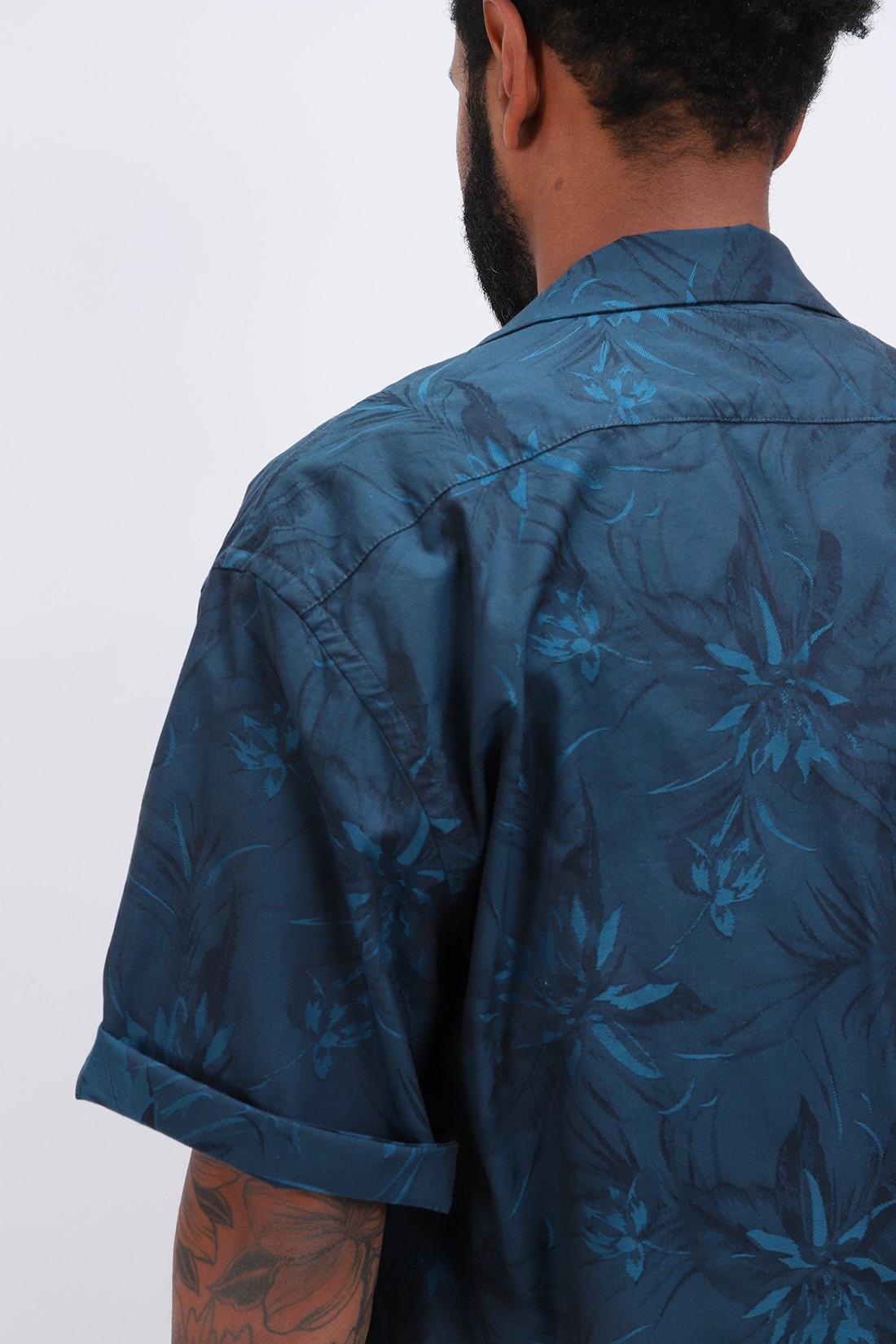 BARENA / Camicia solana maroca Petrolio