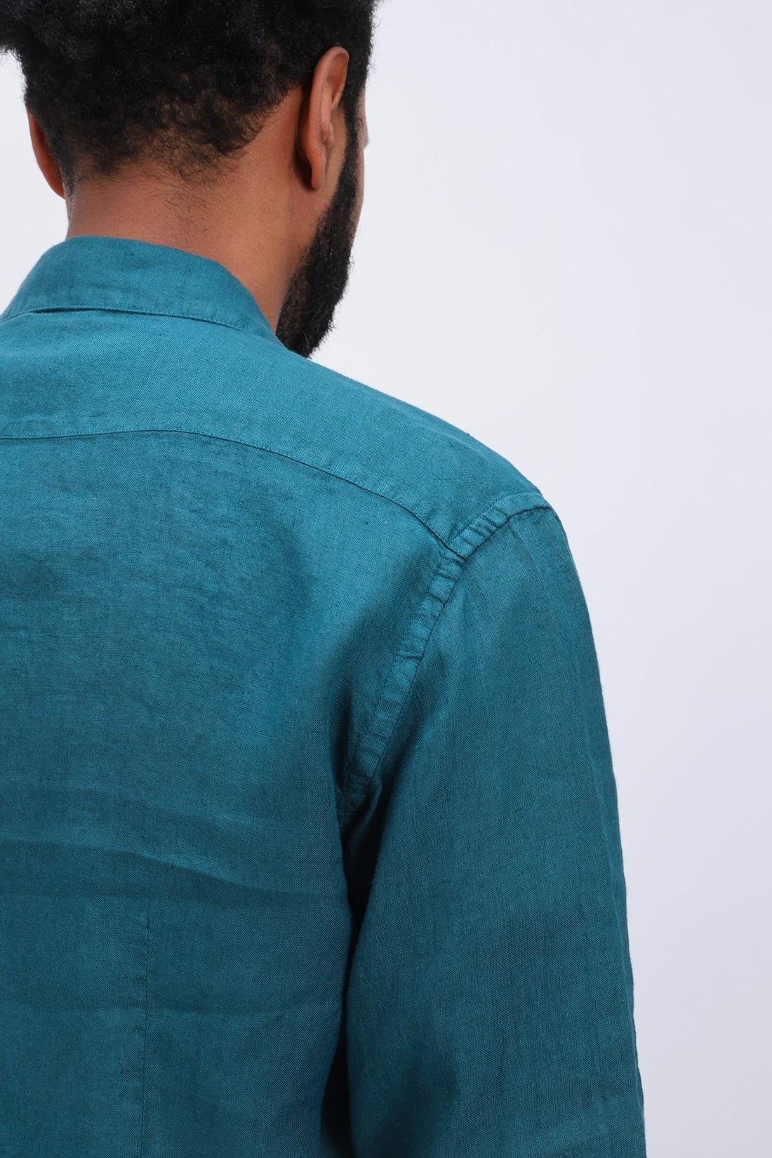 BARENA / Camicia coppi telino Petrolio