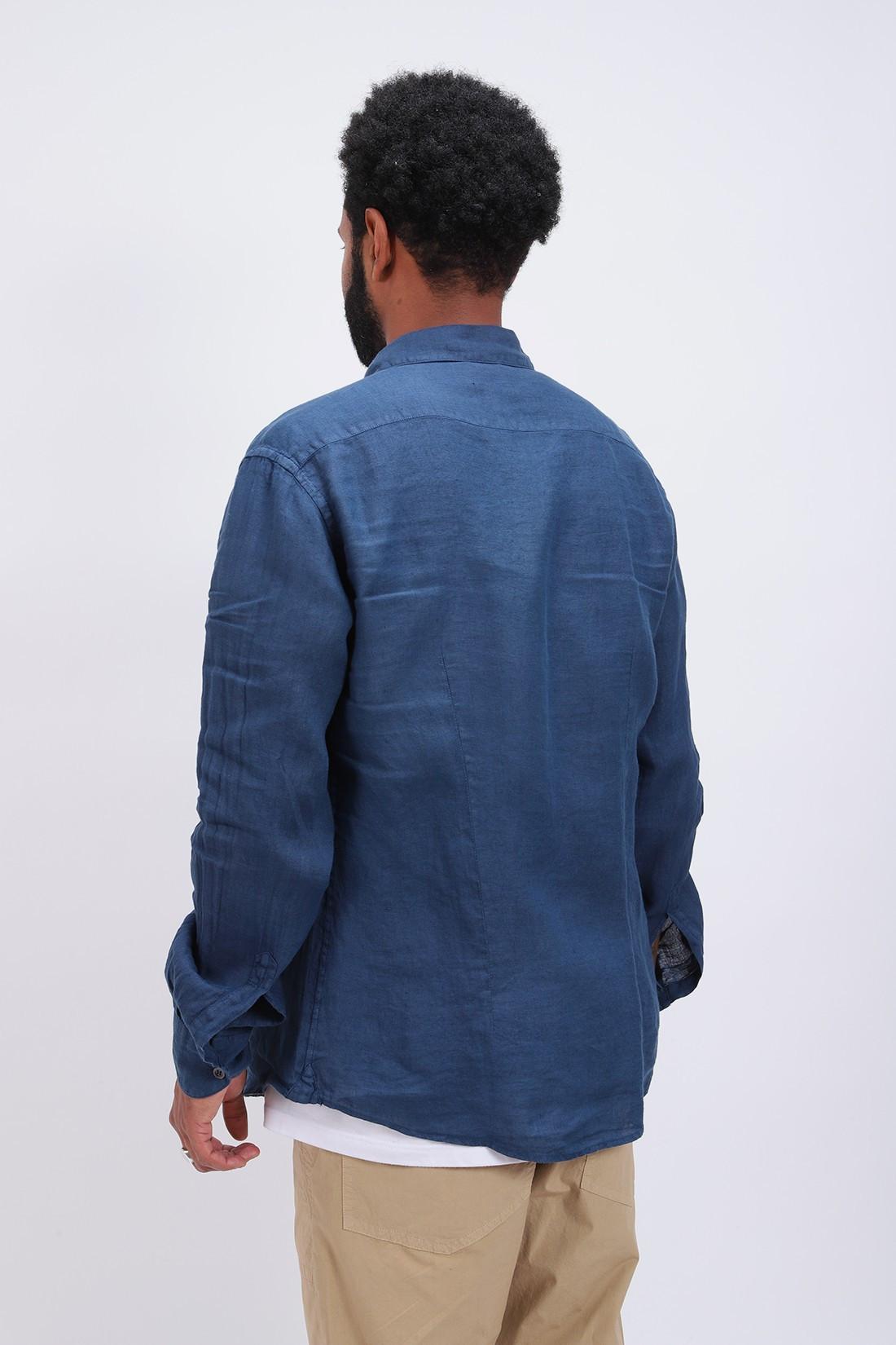 BARENA / Camicia coppi telino Cobalto