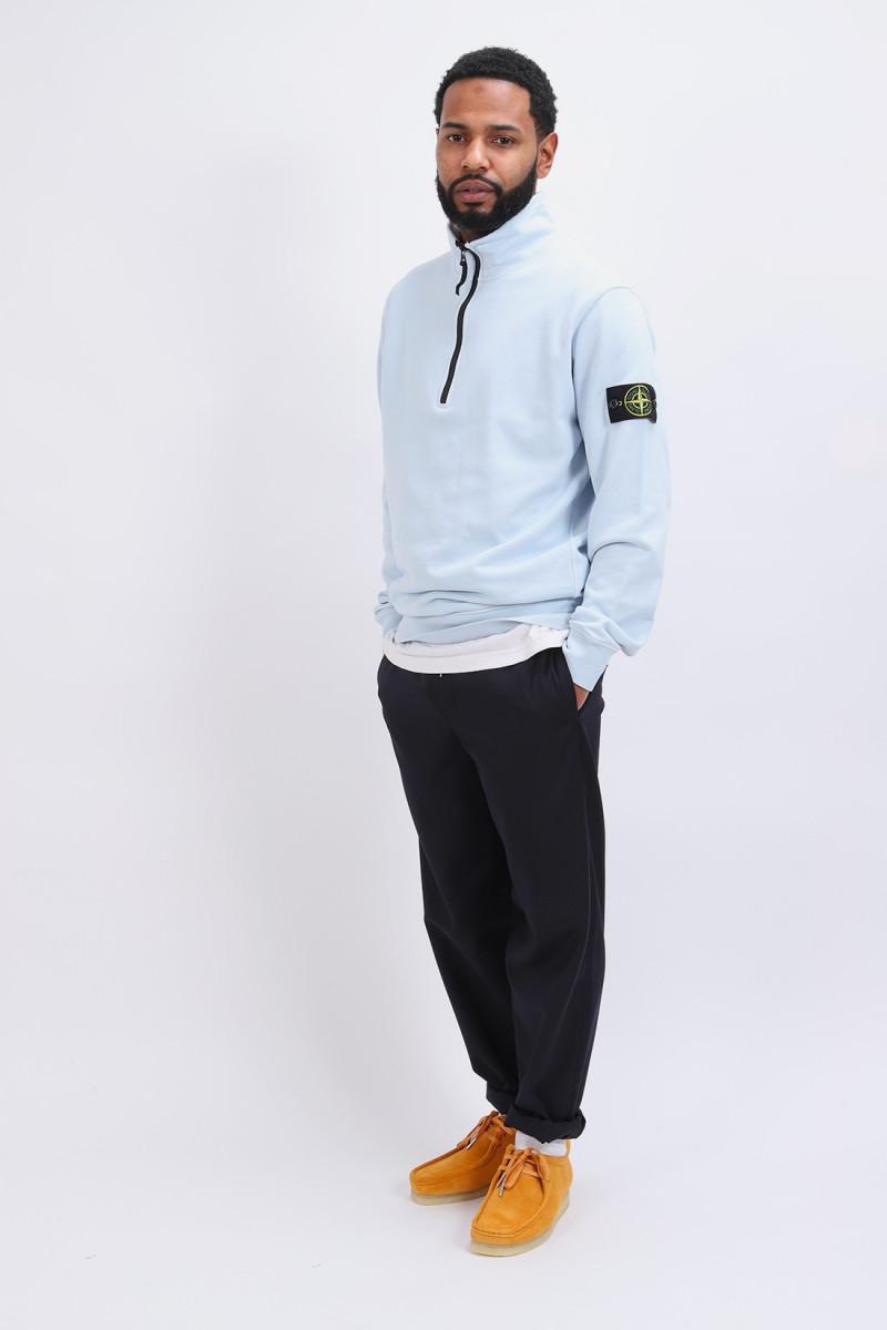 61951 half zip sweater v0041 Cielo