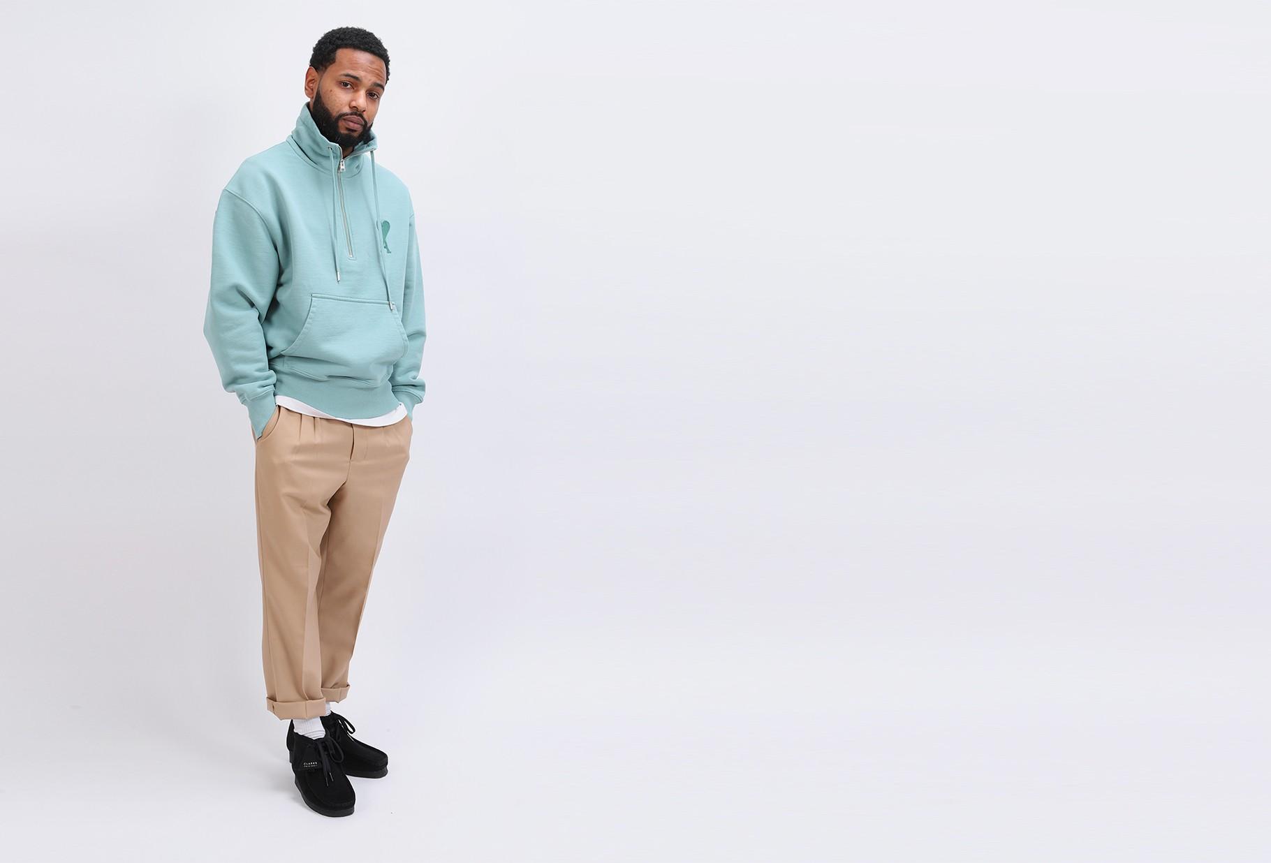 AMI / Sweatshirt col zippe ami de