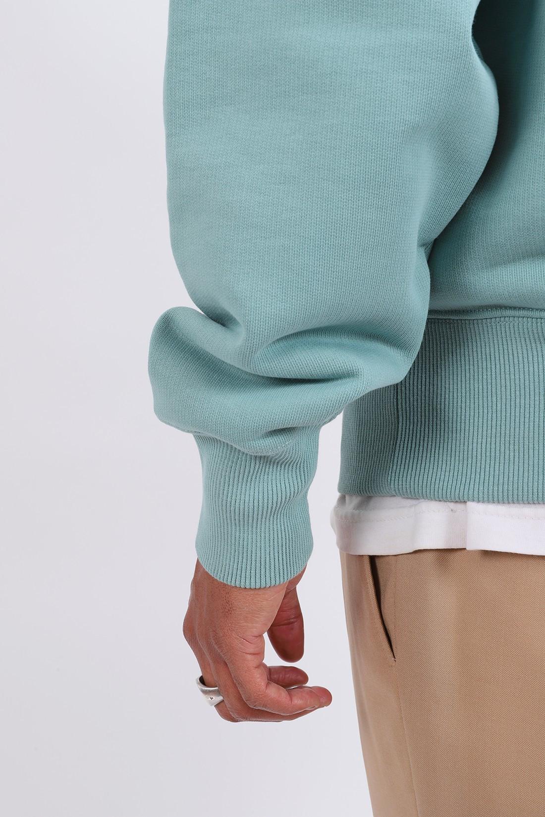 AMI / Sweatshirt col zippe ami de Coeur green aqua