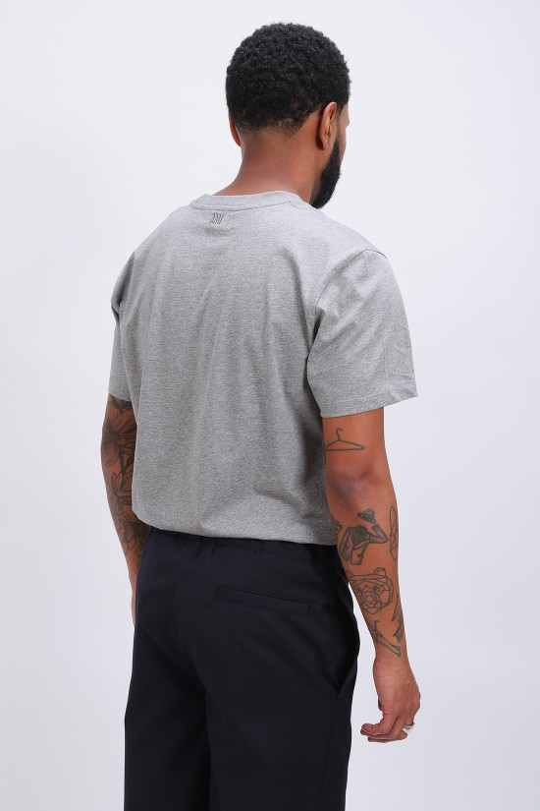 AMI / T-shirt ami de coeur Gris chine