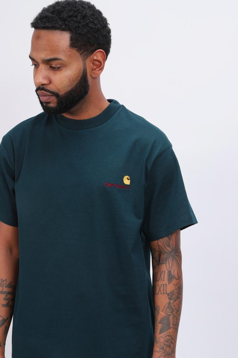 S/s americanscript t-shirt Deep lagoon