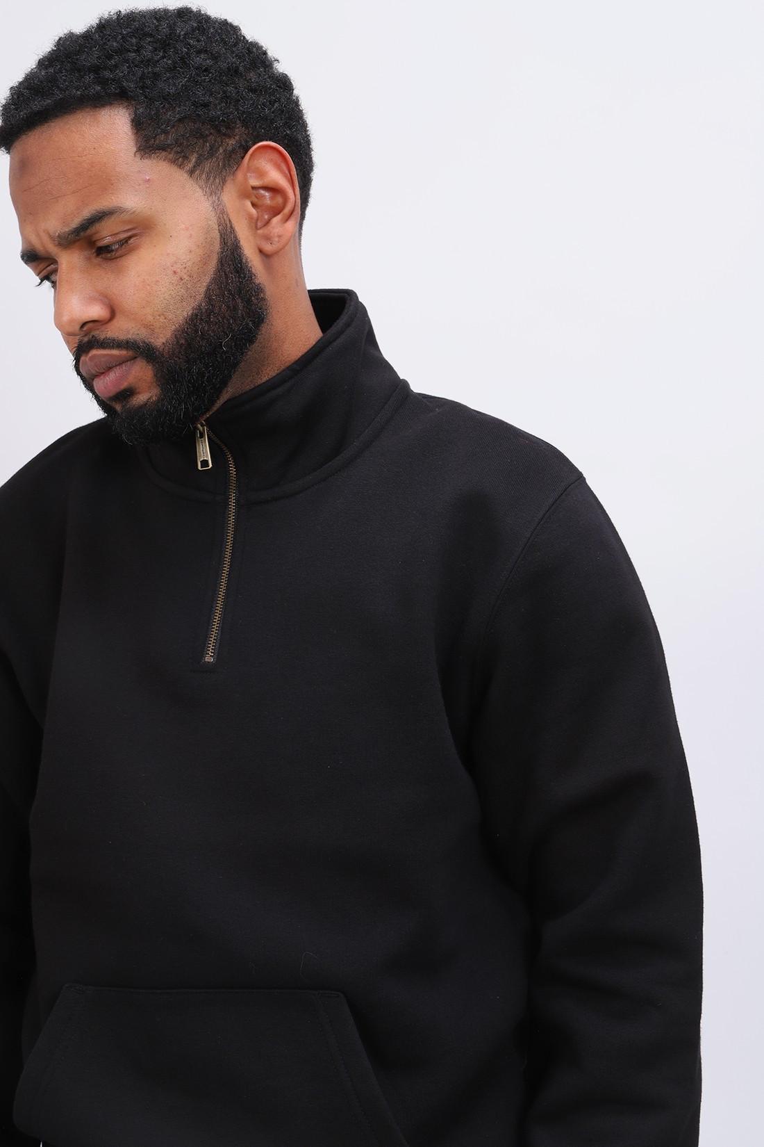 CARHARTT WIP / Chase neck zip sweat Black gold