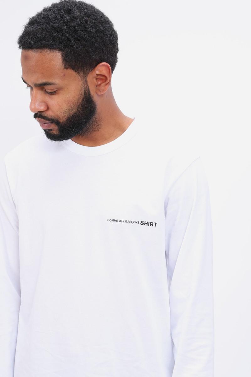 Cdg shirt logo ls t-shirt Blanc