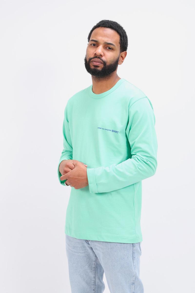 Cdg shirt logo ls t-shirt Vert