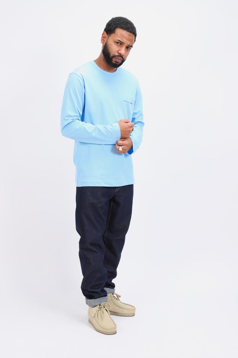 Cdg shirt logo ls t-shirt Bleu