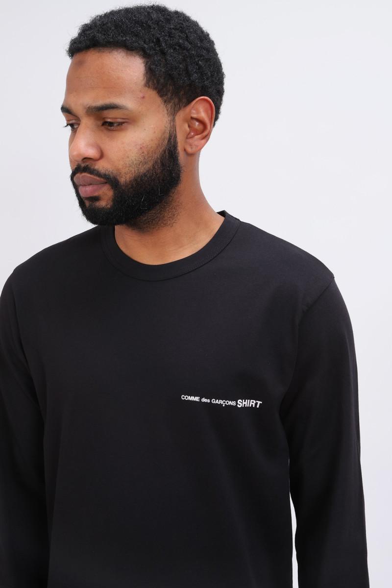 Cdg shirt logo ls t-shirt Noir