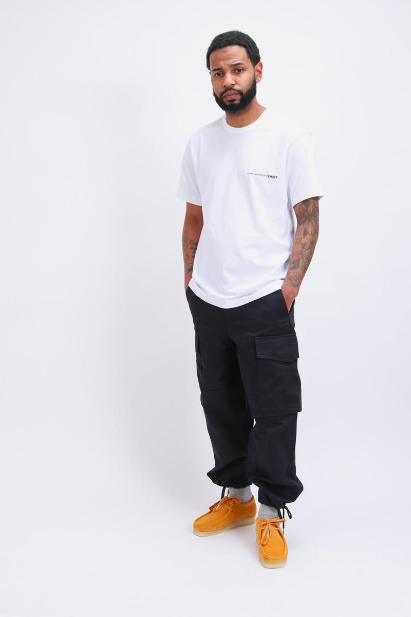 Cdg shirt logo ss t-shirt Blanc