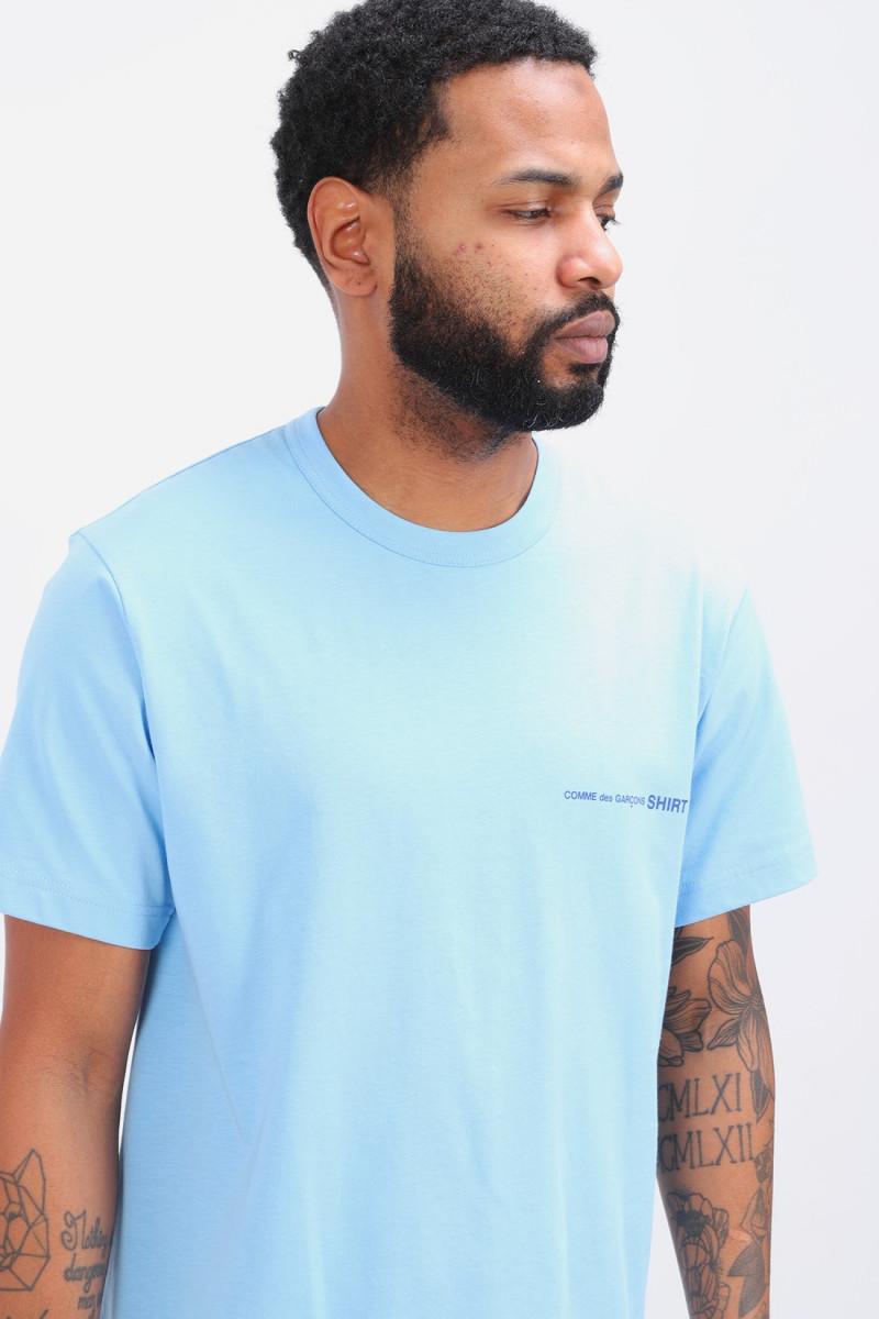 Cdg shirt logo ss t-shirt Bleu