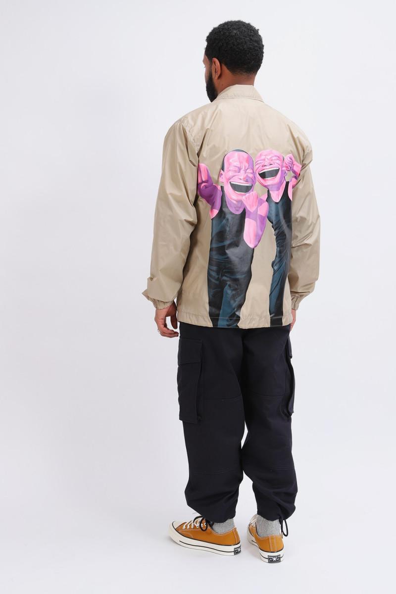 Mens jacket woven cdg shirt Beige