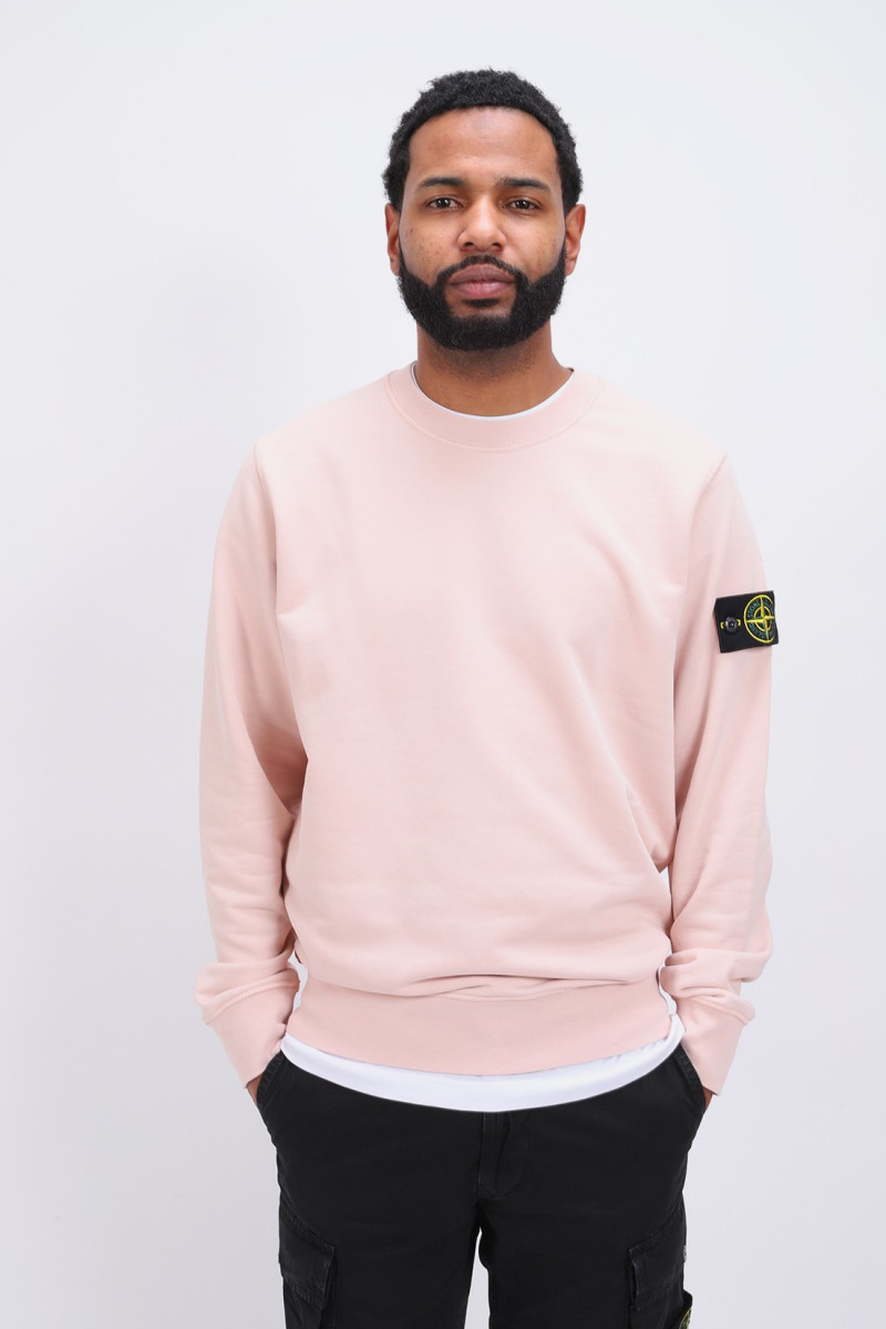 63051 crewneck sweater v0082 Rosa antico