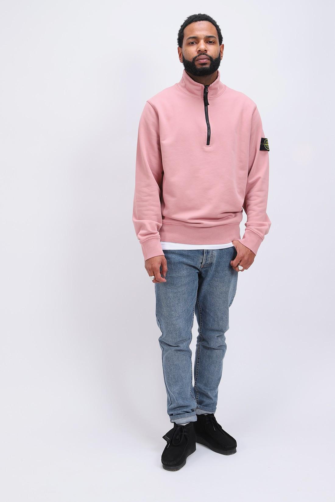 STONE ISLAND / 61951 half zip sweater v0086 Rosa quarzo