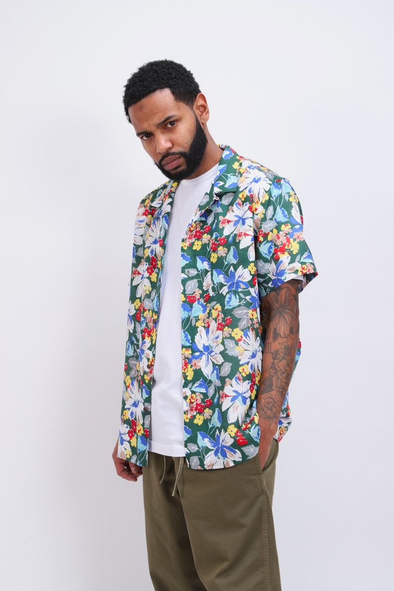 Malick silk floral print shirt Multi