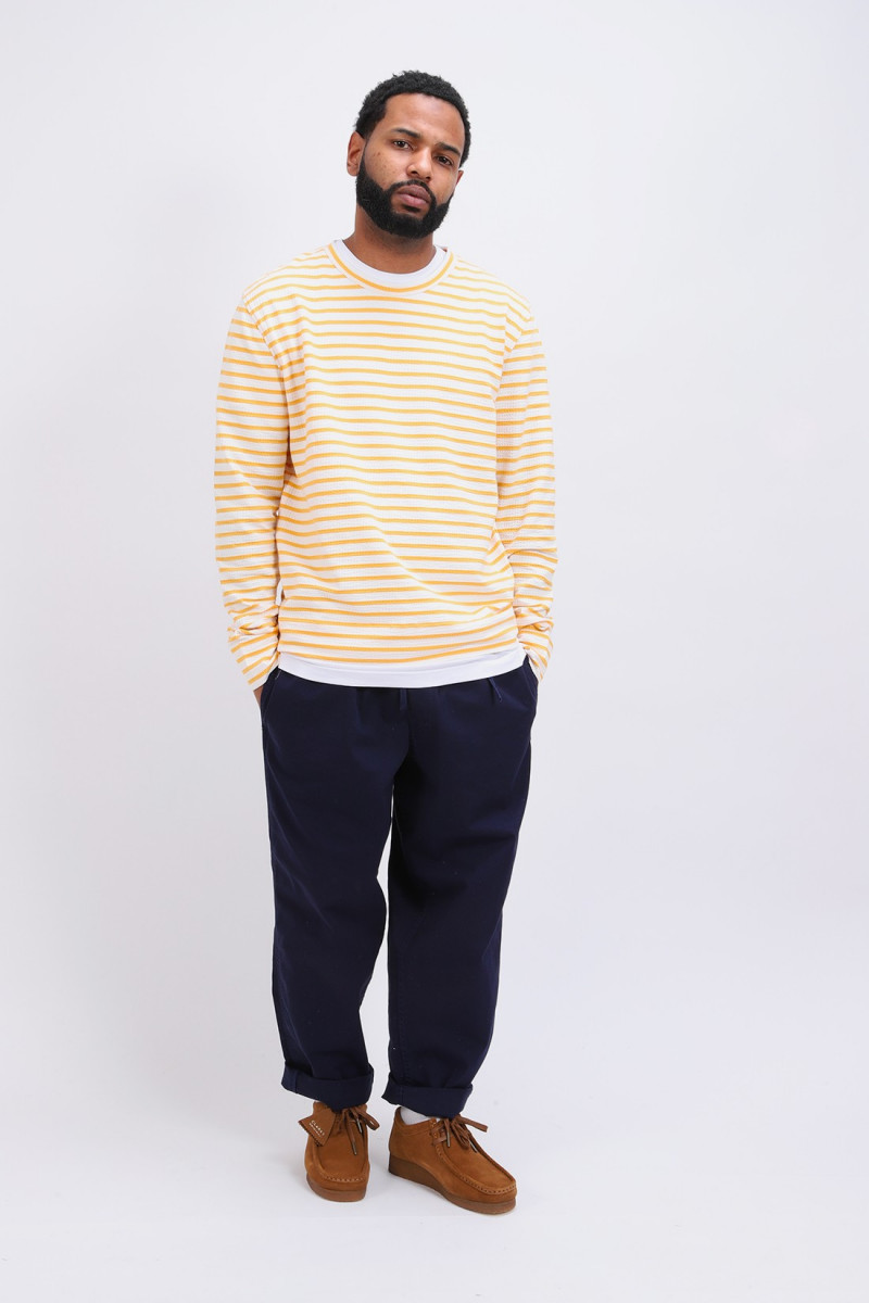 Crepe jersey sweatshirt White / yellow