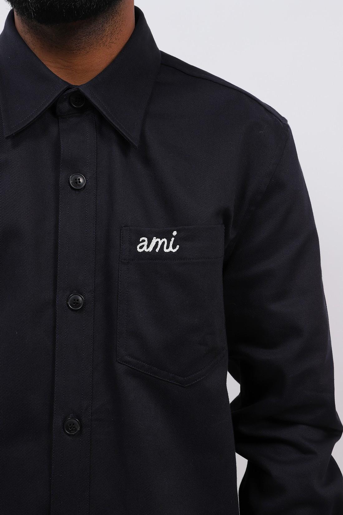 AMI / Surchemise boutonnee Marine