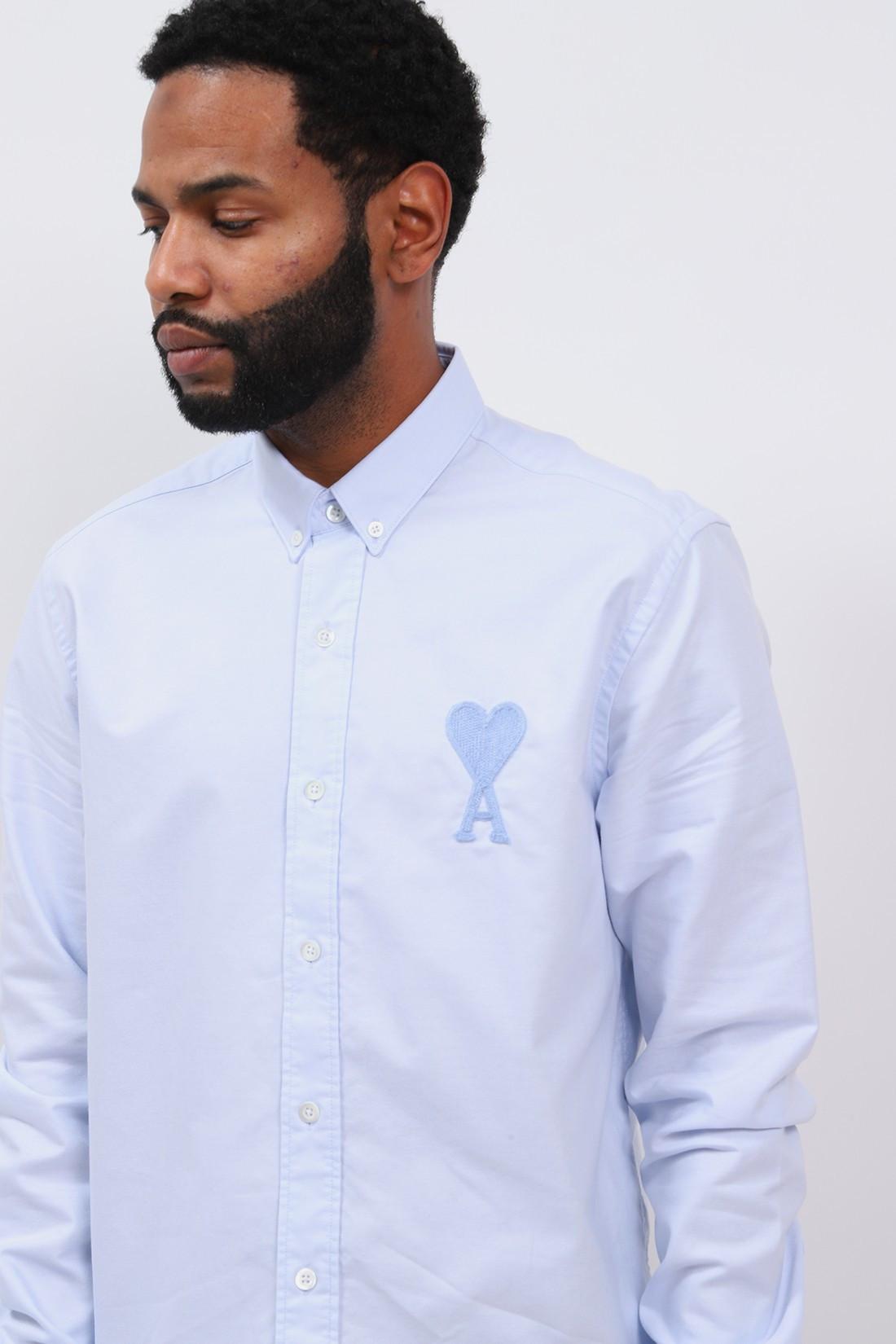AMI / Chemise ami de coeur Oxford blue