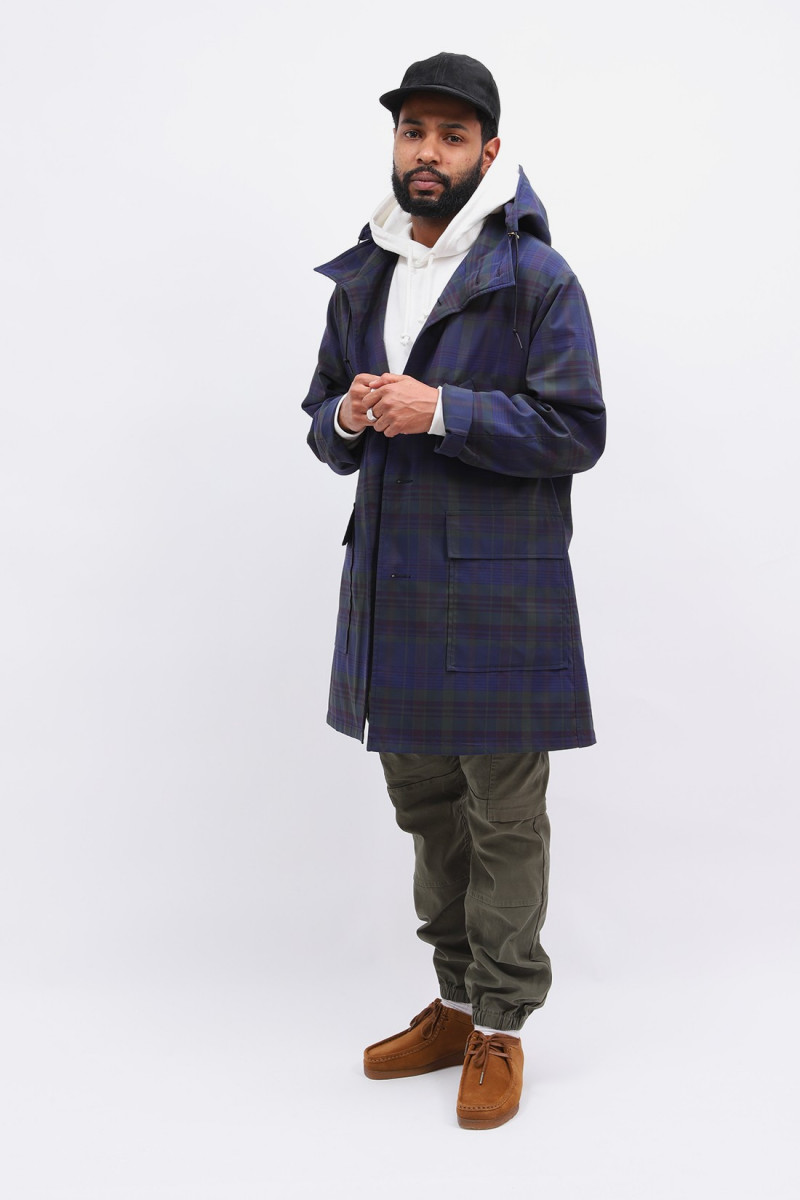 Hooded coat jacket Navy