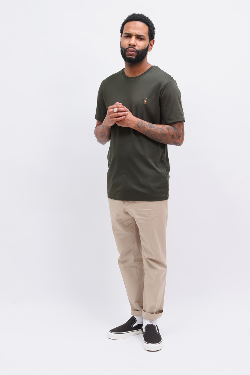 Custom slim fit tee shirt Olive