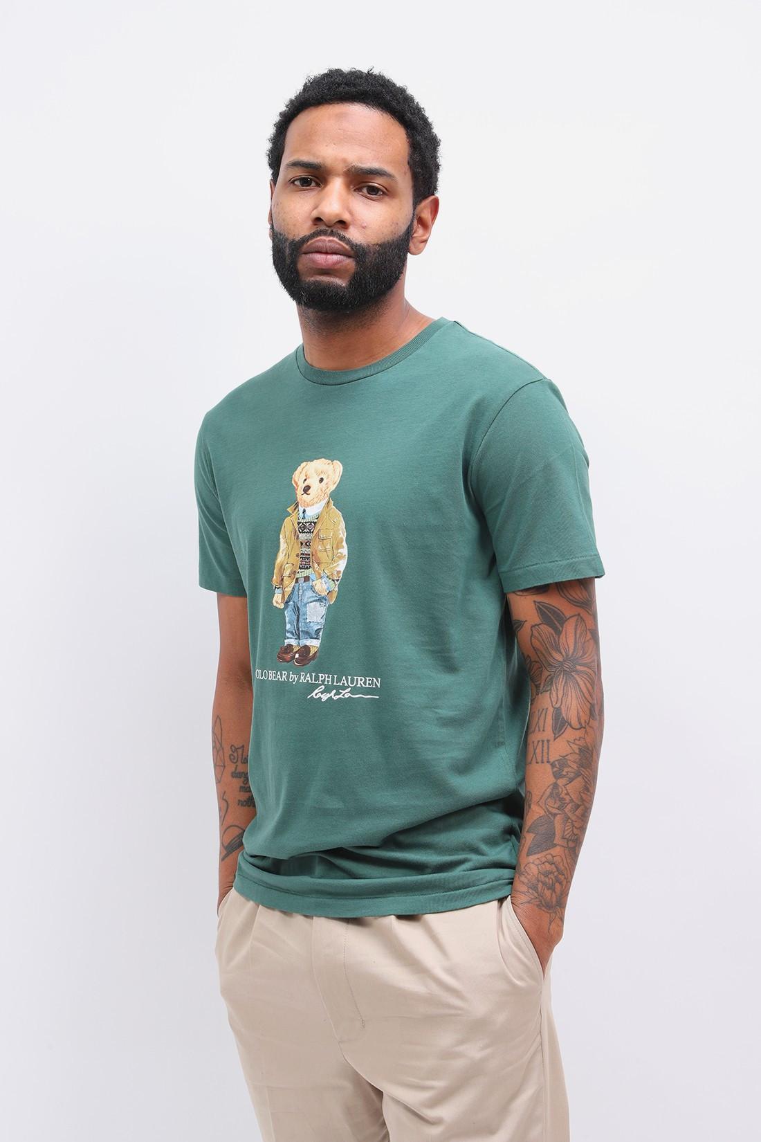POLO RALPH LAUREN / Custom slim fit polo bear tee Green