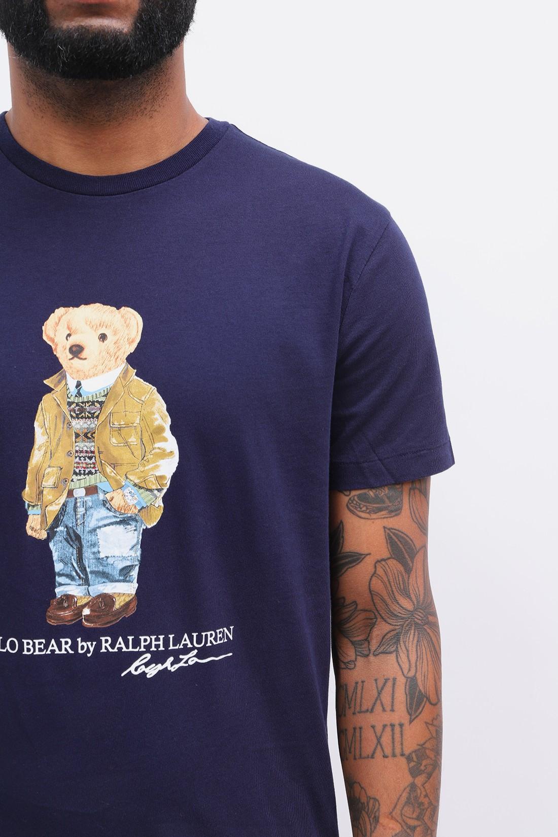 POLO RALPH LAUREN / Custom slim fit polo bear tee Navy