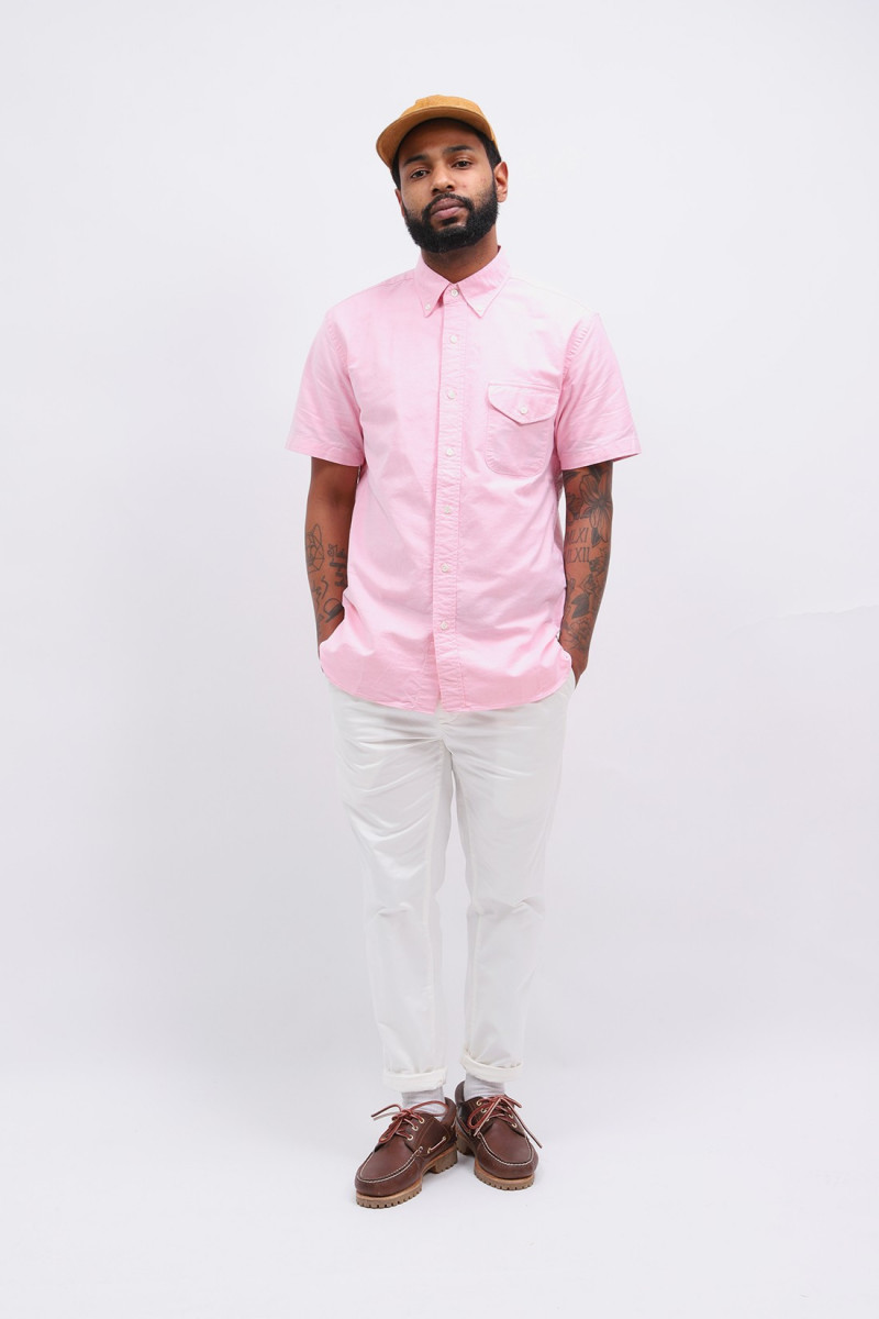 Short sleeve b.d oxford Pink