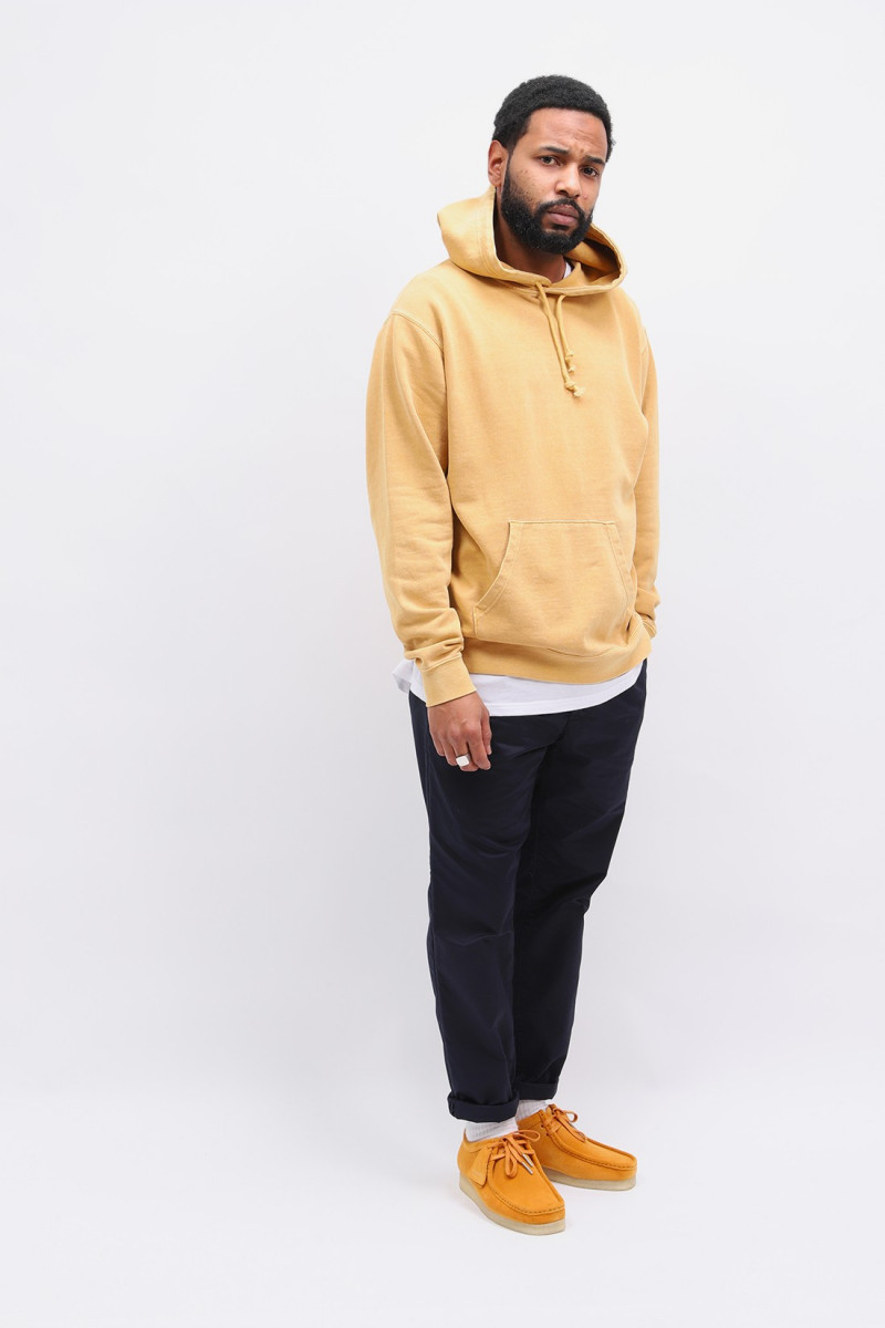 Hoodie sweat pigment dye Yellow