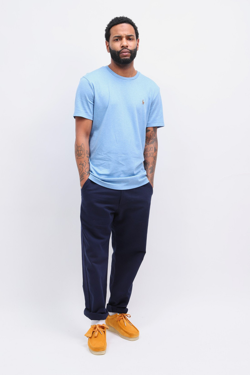 Custom slim fit tee shirt Blue