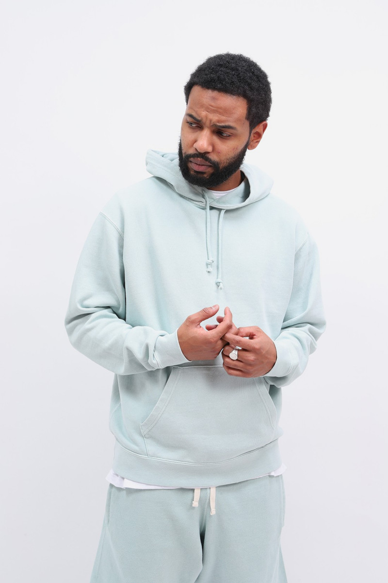 Hoodie sweat pigment dye Mint green