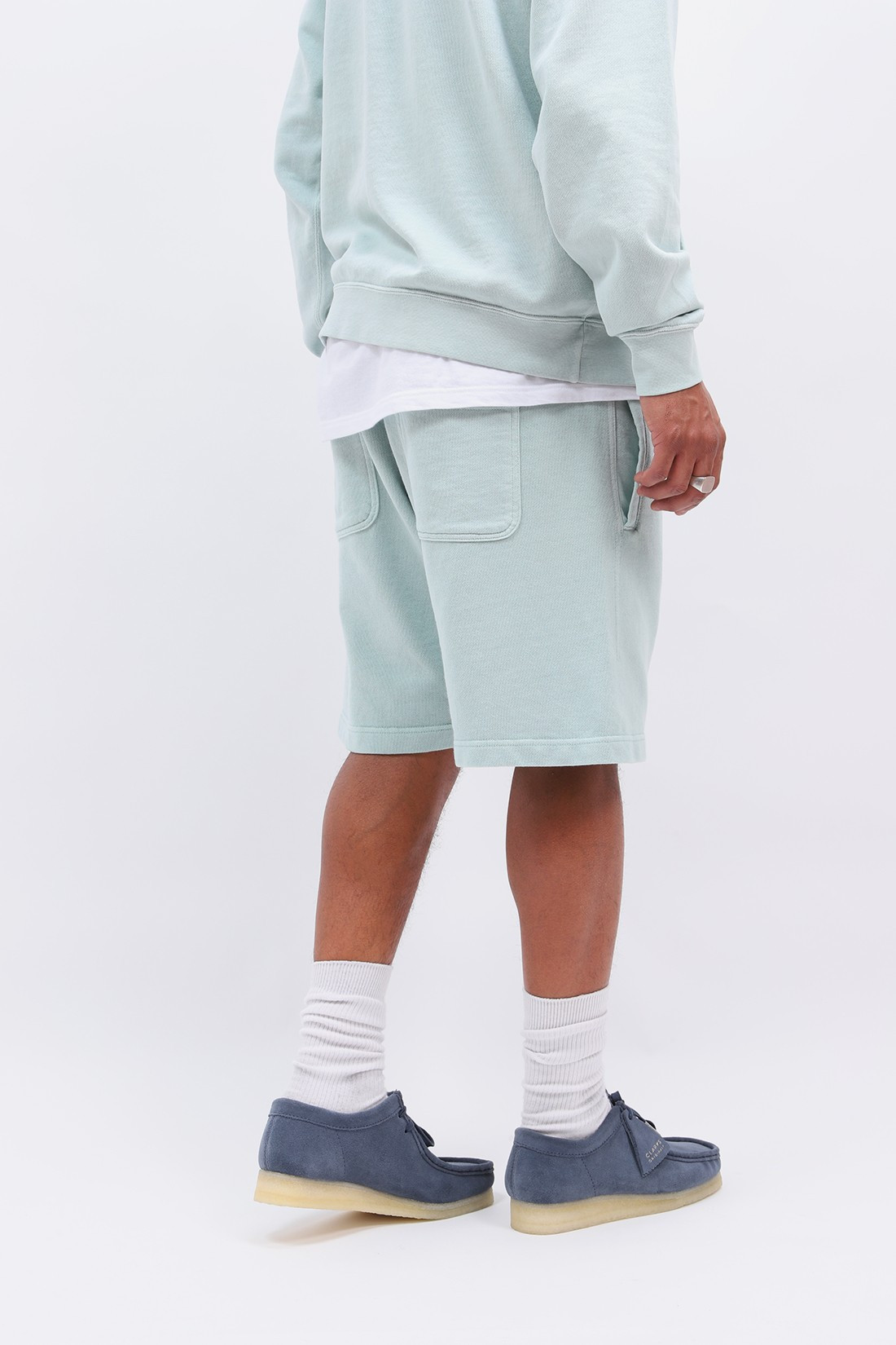 BEAMS PLUS / Athletic short sweat Mint green