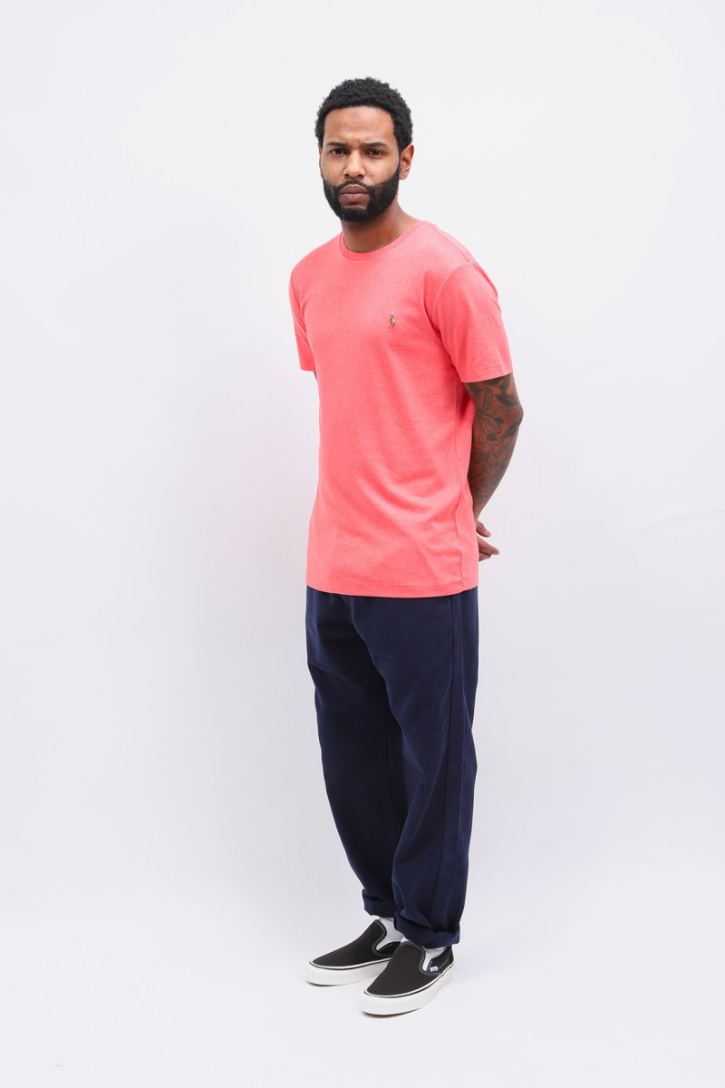 Custom slim fit tee shirt Pink heather