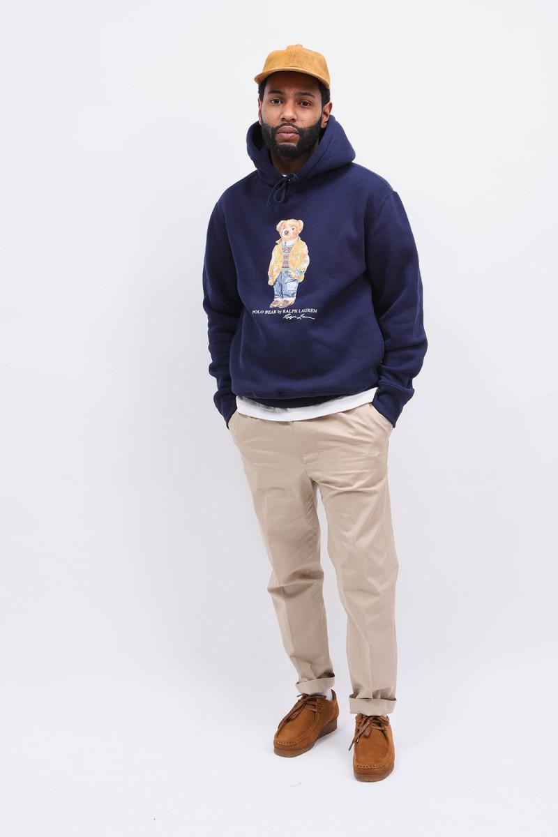 Polo bear hooded sweater Navy