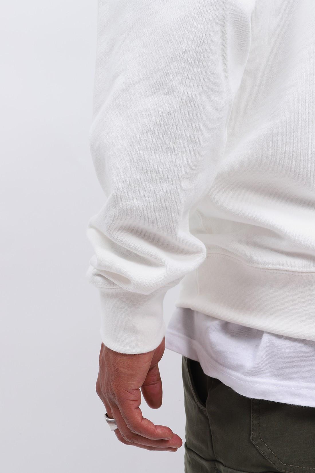 BEAMS PLUS / Hoodie sweat pigment dye Off white