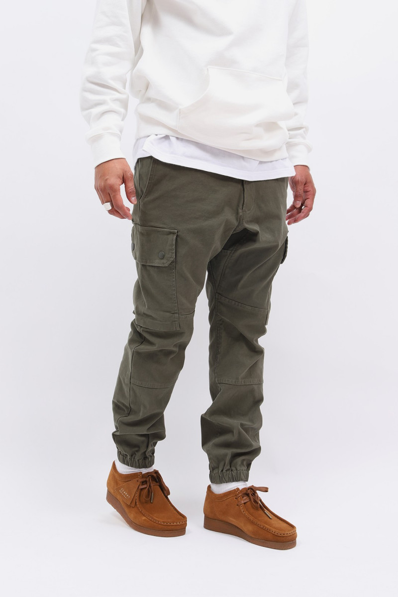 Gym pants 6 pocket Olive