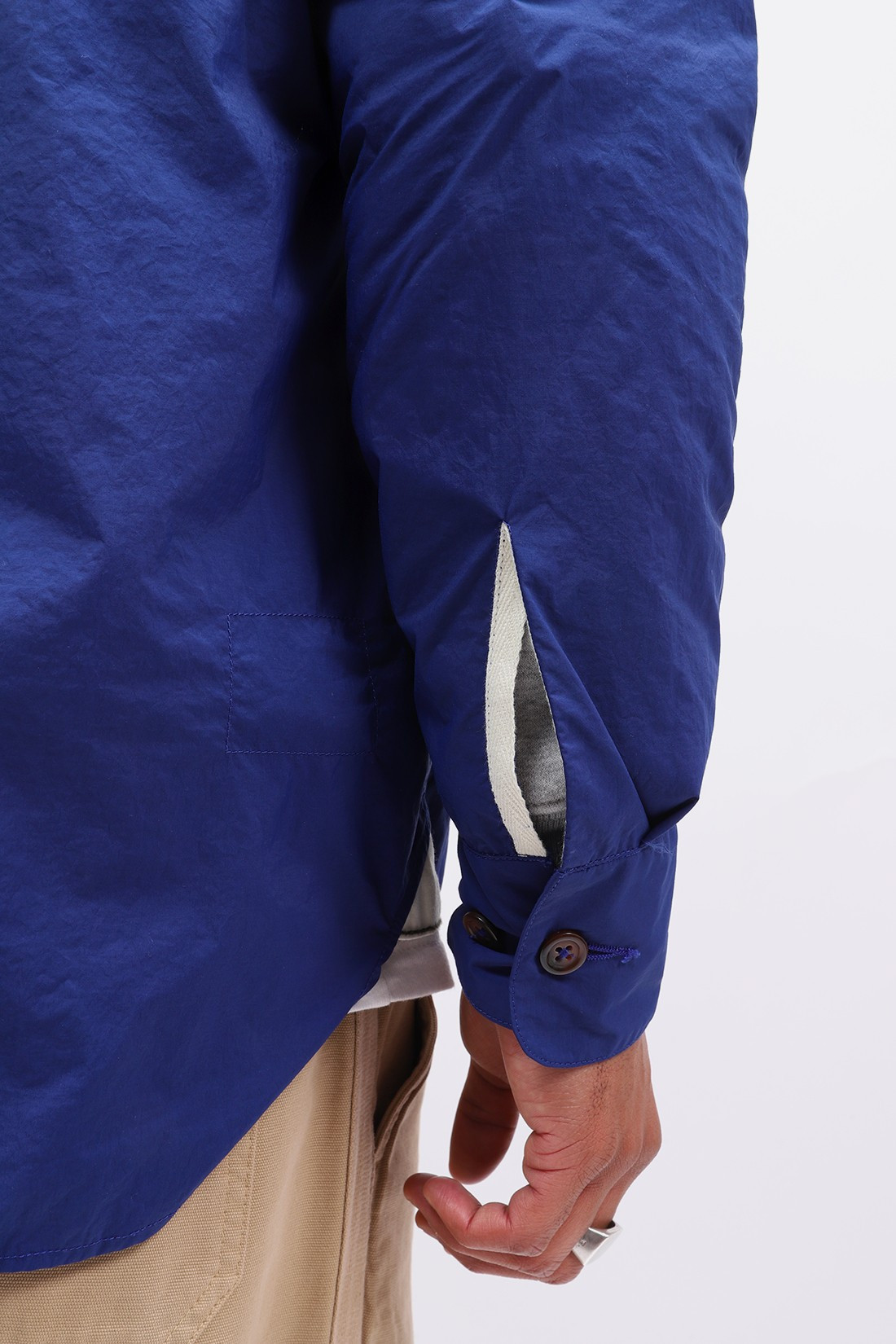 UNIVERSAL WORKS / Travail shirt recycled nylon Blue