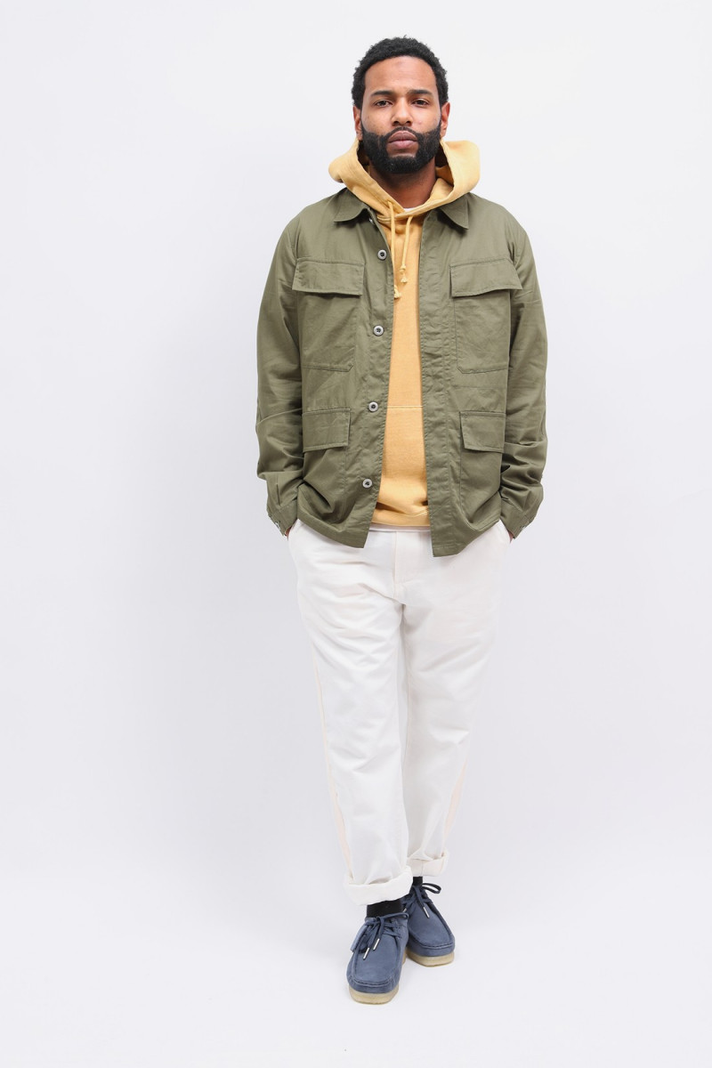 Mw fatigue jacket fine twill Olive