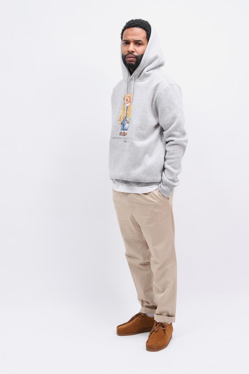 Polo bear hooded sweater Grey heather
