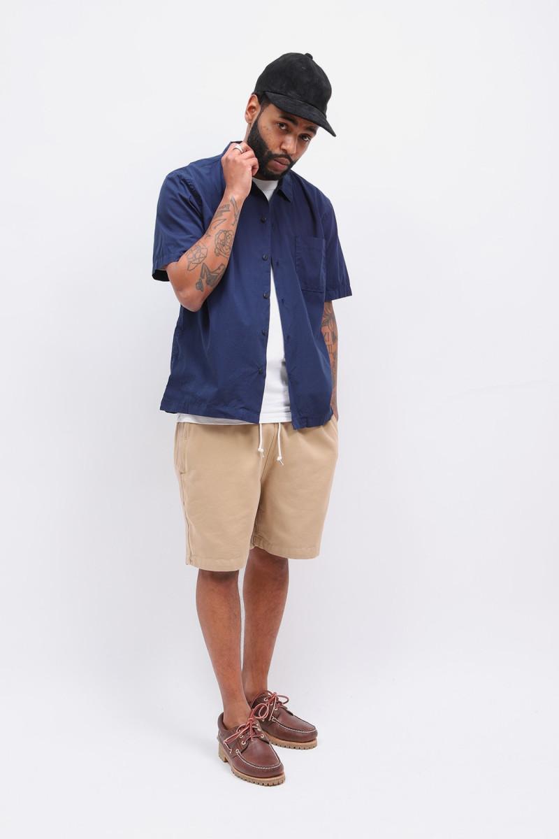 Road shirt organic fine poplin Navy