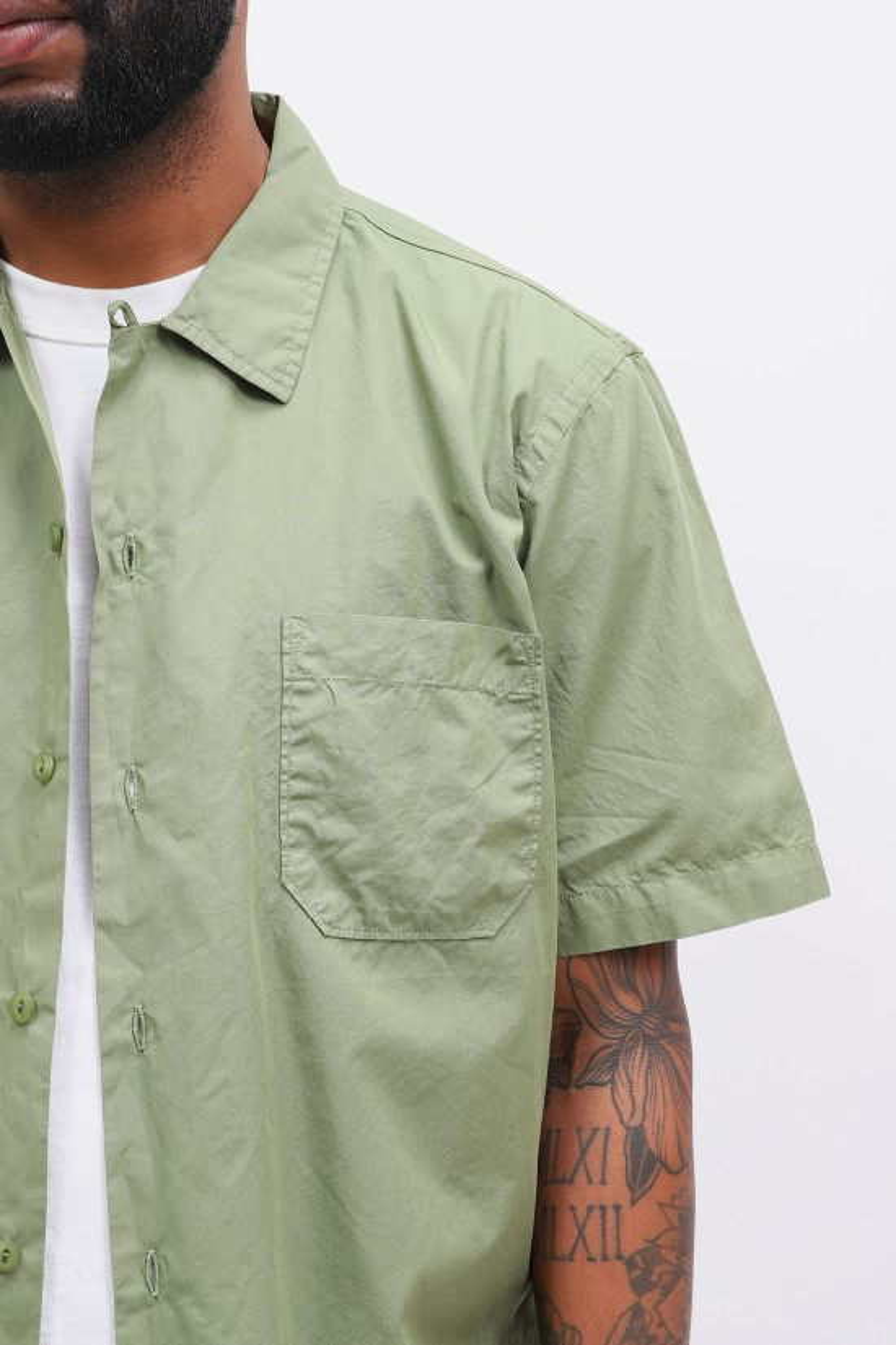 UNIVERSAL WORKS / Road shirt organic fine poplin Olive