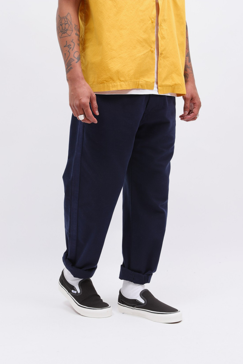 Track trouser canvas Navy