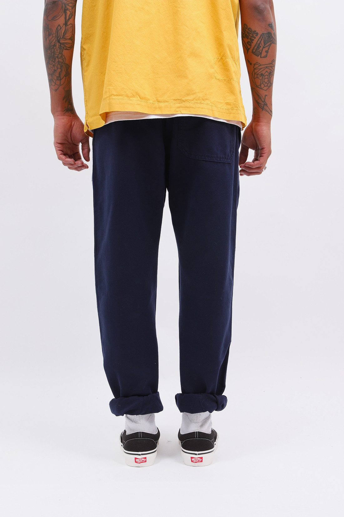 UNIVERSAL WORKS / Track trouser canvas Navy