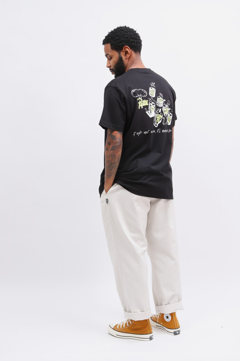 Patta values ss t-shirt Black