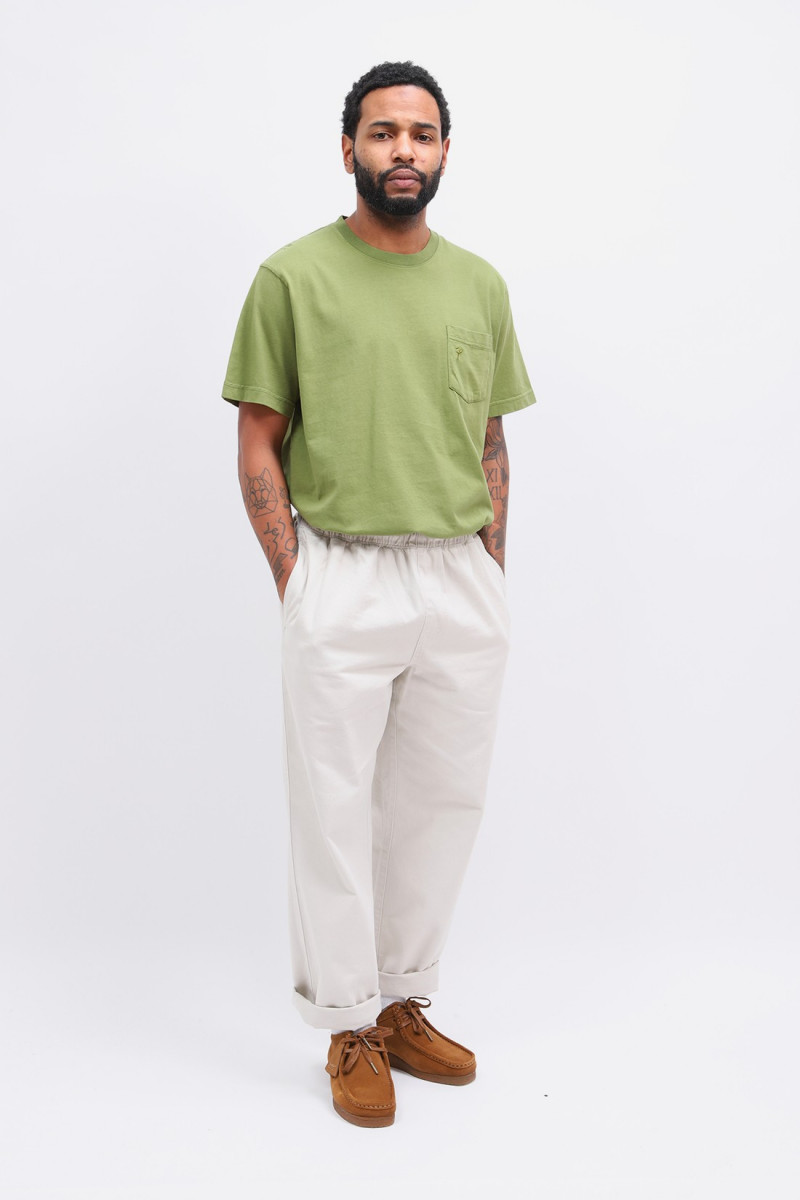 Patta basic pocket t-shirt Calliste green