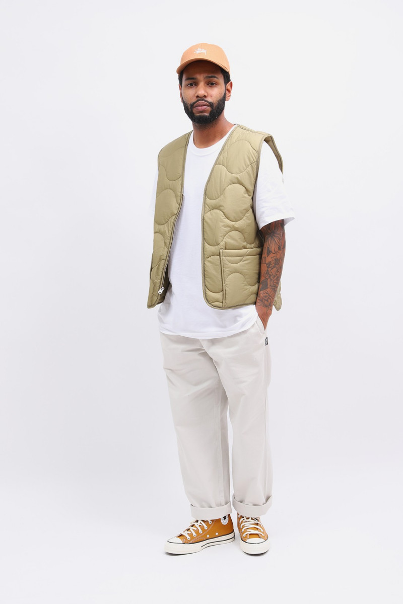 Quilted liner vest Coyote