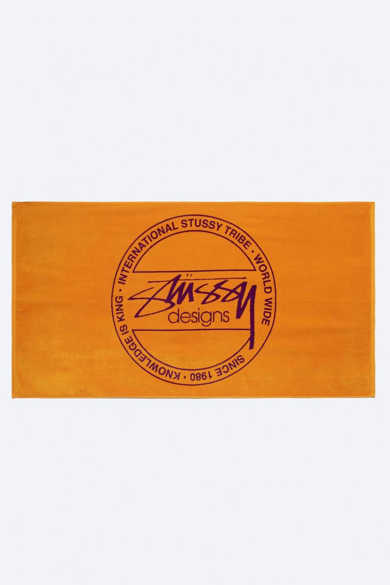 Stussy dot jacquard towel Orange