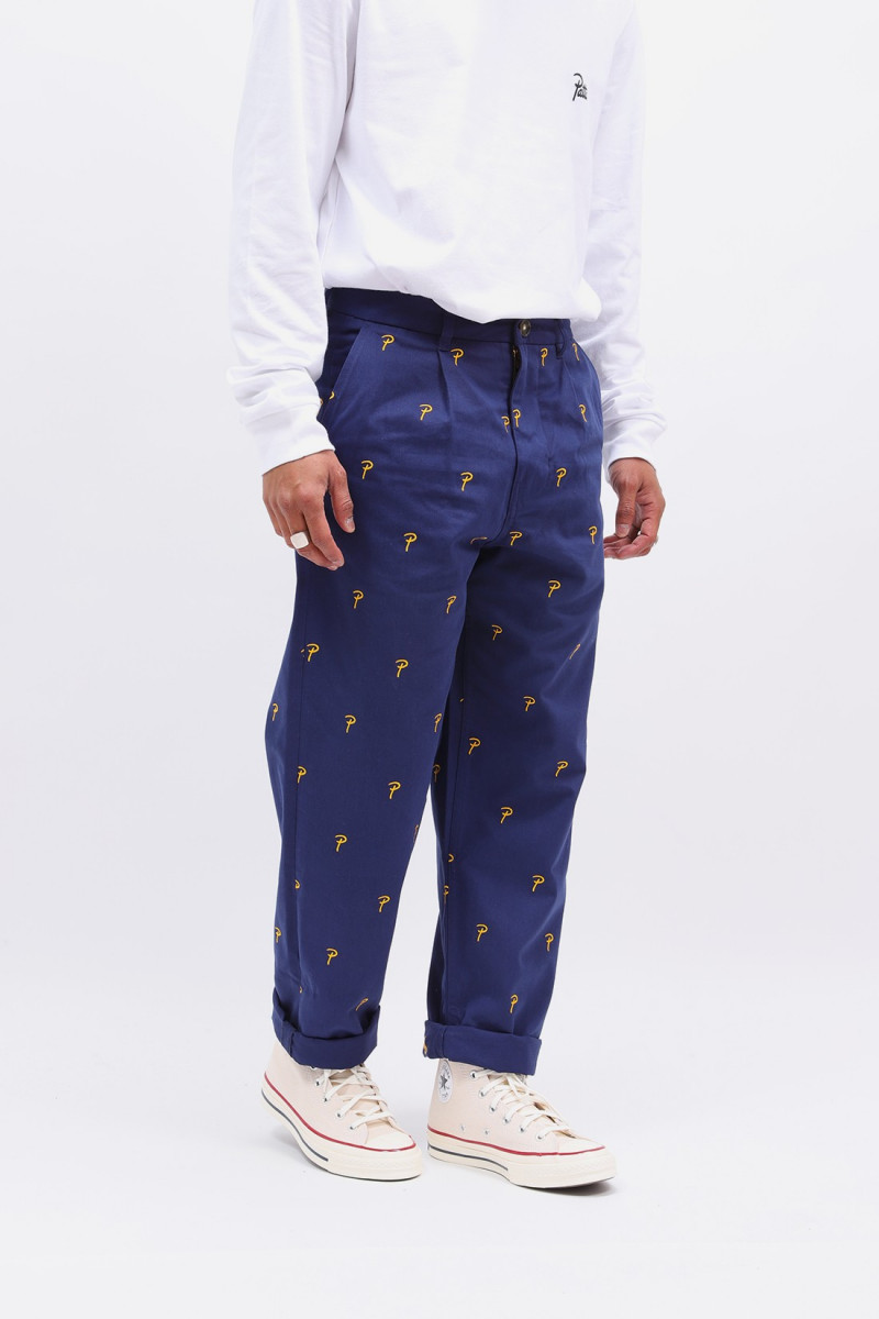 Patta basic chino medieval Blue old gold