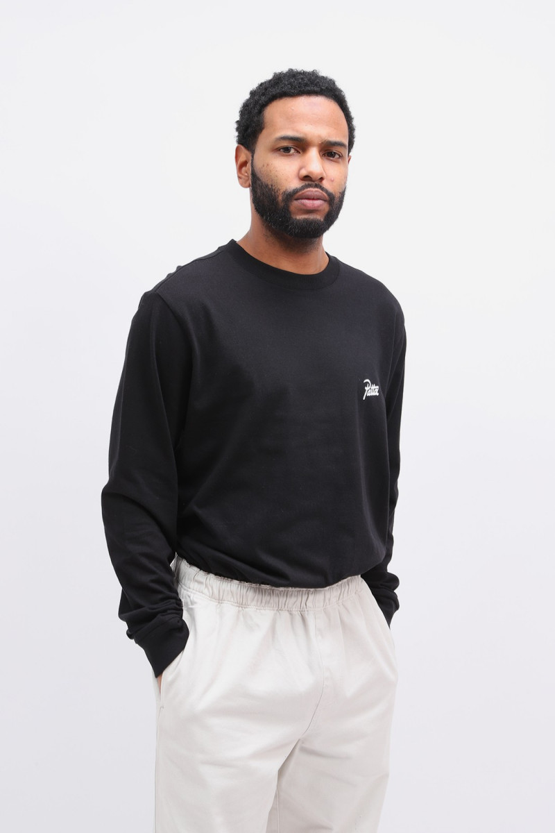 Patta basic longsleeve t-shirt Black